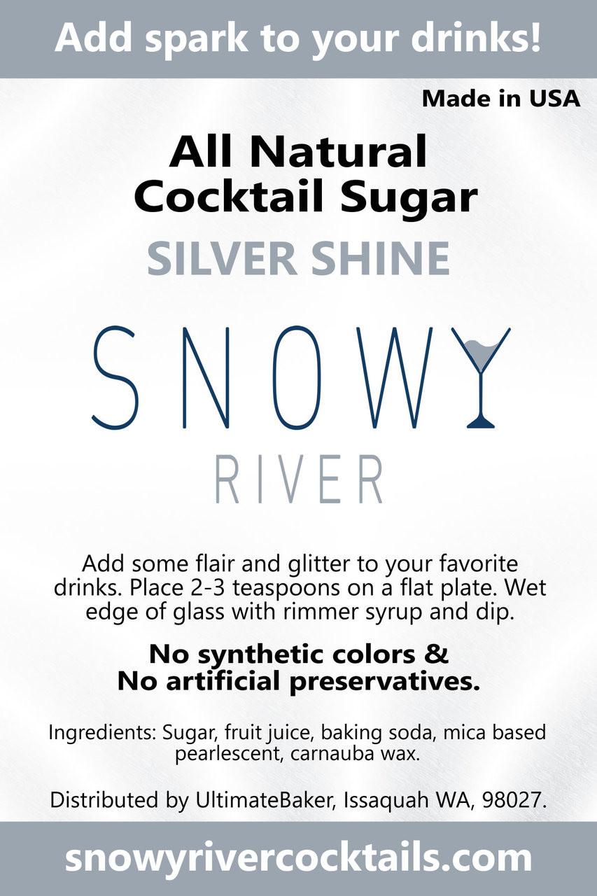 Snowy River Cocktail Sugar Silver Shine (1x8oz)