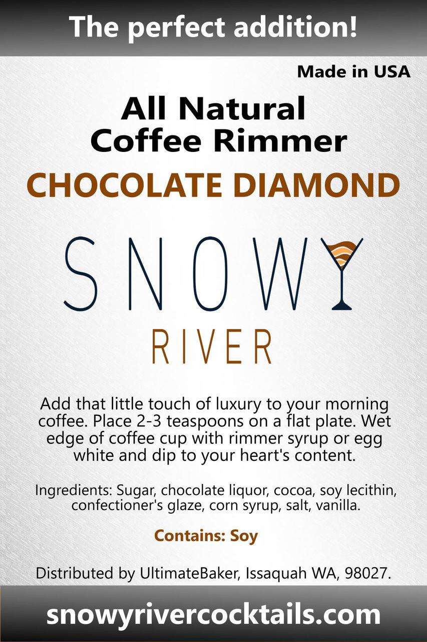 Snowy River Coffee Rimmer Chocolate Diamond (1x8oz)