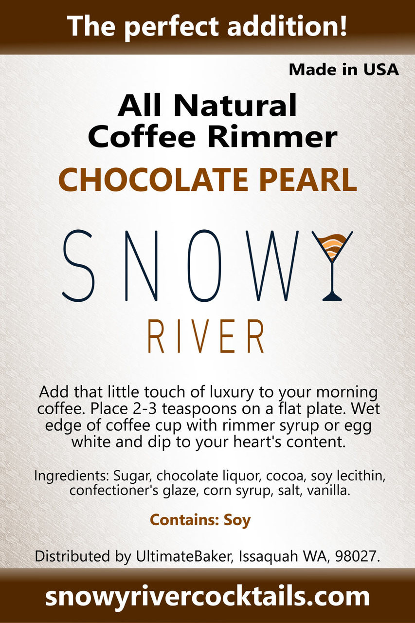 Snowy River Coffee Rimmer Chocolate Pearl (1x1lb)