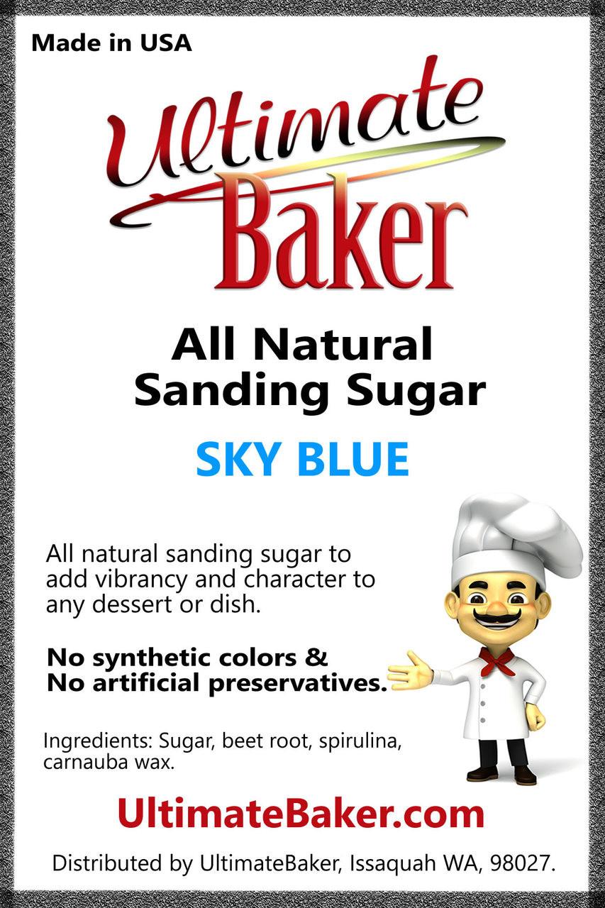 Ultimate Baker Natural Sanding Sugar (Med. Crystal) Sky