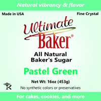 Ultimate Baker Natural Sanding Sugar (Fine Crystal) Pastel Green (1x1lb)