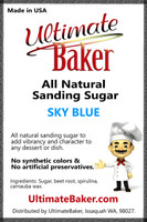 Ultimate Baker Natural Sanding Sugar (Med. Crystals) Sky Blue (1x5lb)