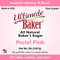 Ultimate Baker Natural Sanding Sugar (Fine Crystals) Pastel Pink (1x5lb)