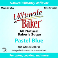Ultimate Baker Natural Sanding Sugar (Fine Crystals) Pastel Blue (1x5lb)