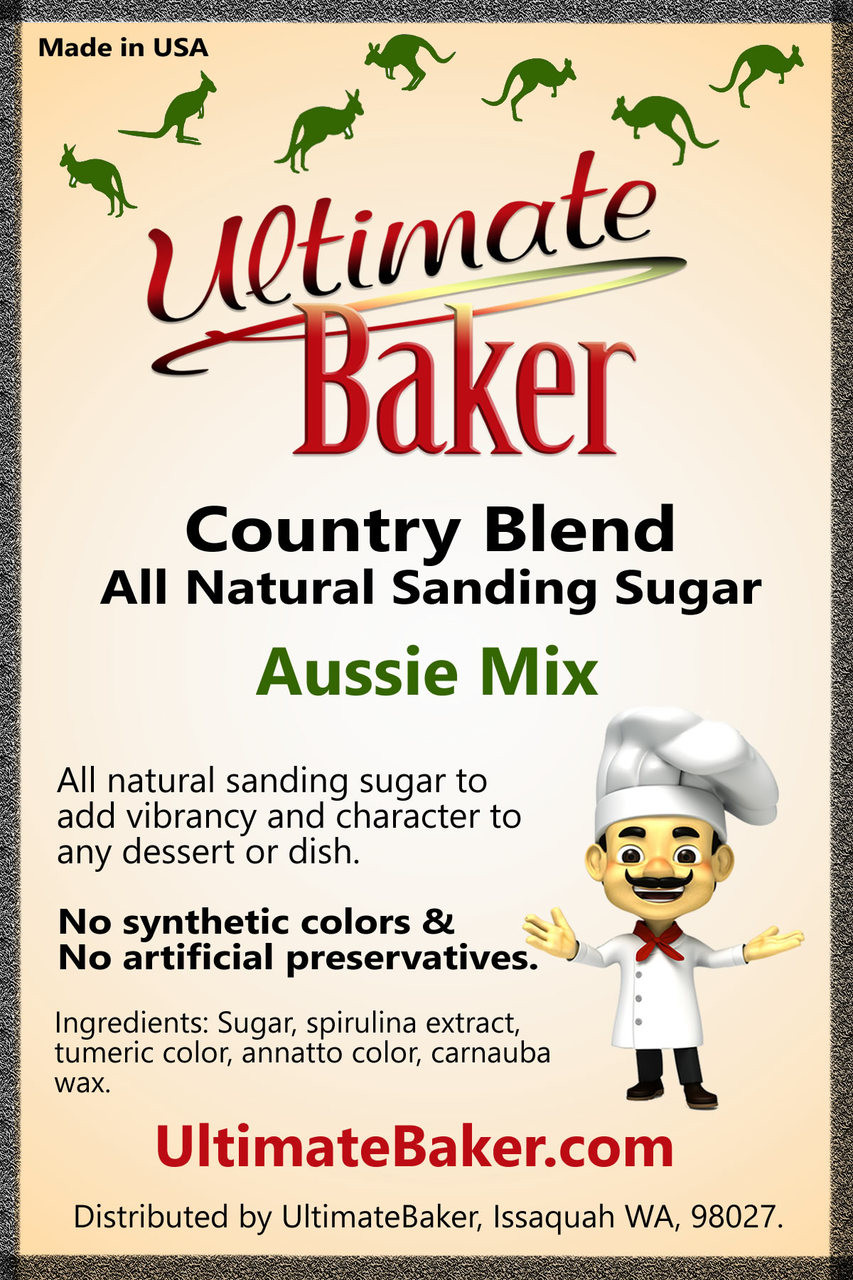 Ultimate Baker Country Blend Sanding Sugar Aussie Mix (1x1lb)