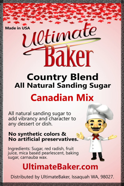 Ultimate Baker Country Blend Sanding Sugar Canadian Mix (1x1lb)