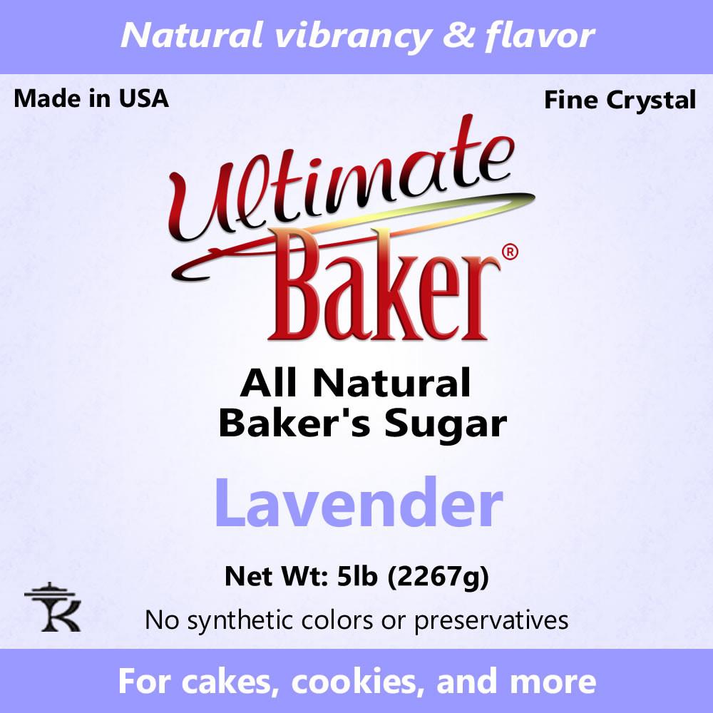 Ultimate Baker Natural Sanding Sugar (Fine Crystals) Pastel Lavender (1x8lb)