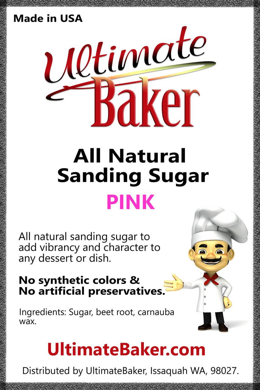 Ultimate Baker Natural Sanding Sugar (Med. Crystals) Pink (1x16lb)