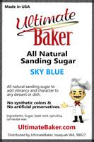Ultimate Baker Natural Sanding Sugar (Med. Crystals) Sky Blue (1x16lb)