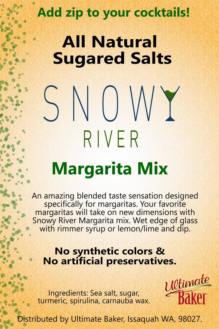 Snowy River Cocktail Sugared Salts Margarita Mix (1x8oz)