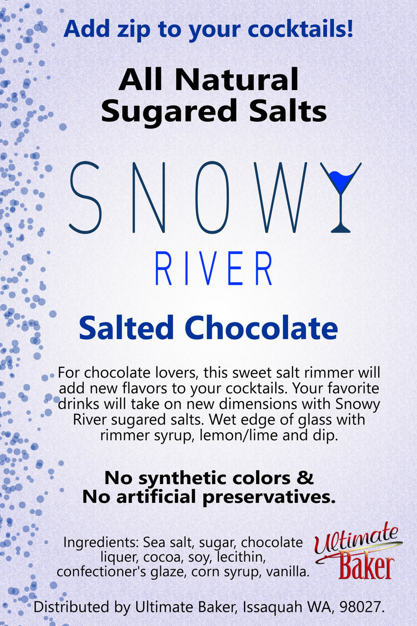 Snowy River Cocktail Sugared Salts Salted Chocolate (1x8oz)