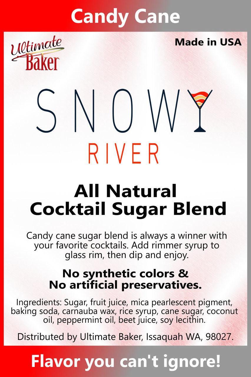 Snowy River Cocktail Sugar Candy Cane (1x5lb)