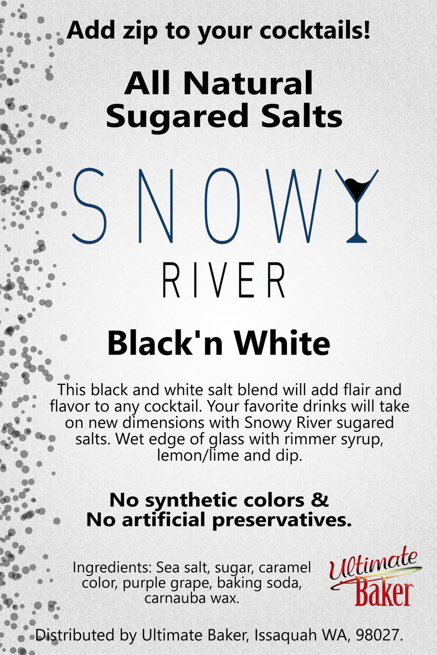 Snowy River Cocktail Sugared Salts Black & White (1x5lb)