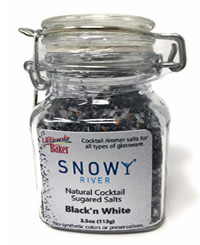 Snowy River Cocktail Sugared Salts Black & White (1x3.5oz)