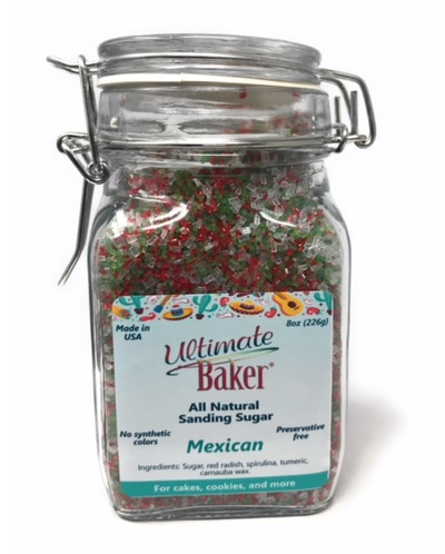 Ultimate Baker Country Blend Sanding Sugar Mexican Mix (1x8oz Glass)