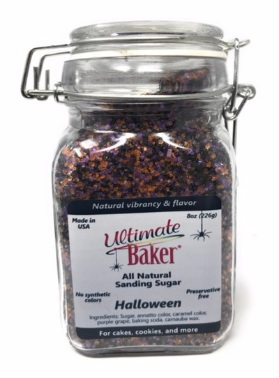 Ultimate Baker Natural Sanding Sugar Halloween Mix (1x8oz Glass)