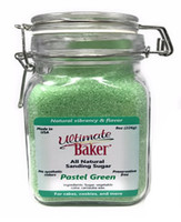 Ultimate Baker Natural Baker's Sugar Pastel Green (1x8oz Gift Bottle)