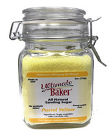 Ultimate Baker Natural Baker's Sugar Pastel Yellow (1x8oz Gift Bottle)
