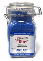 Ultimate Baker Natural Sanding Sugar (Large Crystals) Blue Shine (1x8oz Glass)