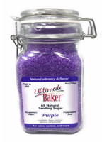 Ultimate Baker Natural Sanding Sugar (Med. Crystal) Purple (1x8oz Glass)