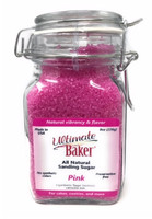 Ultimate Baker Natural Sanding Sugar (Med. Crystals) Pink (1x8oz Glass)