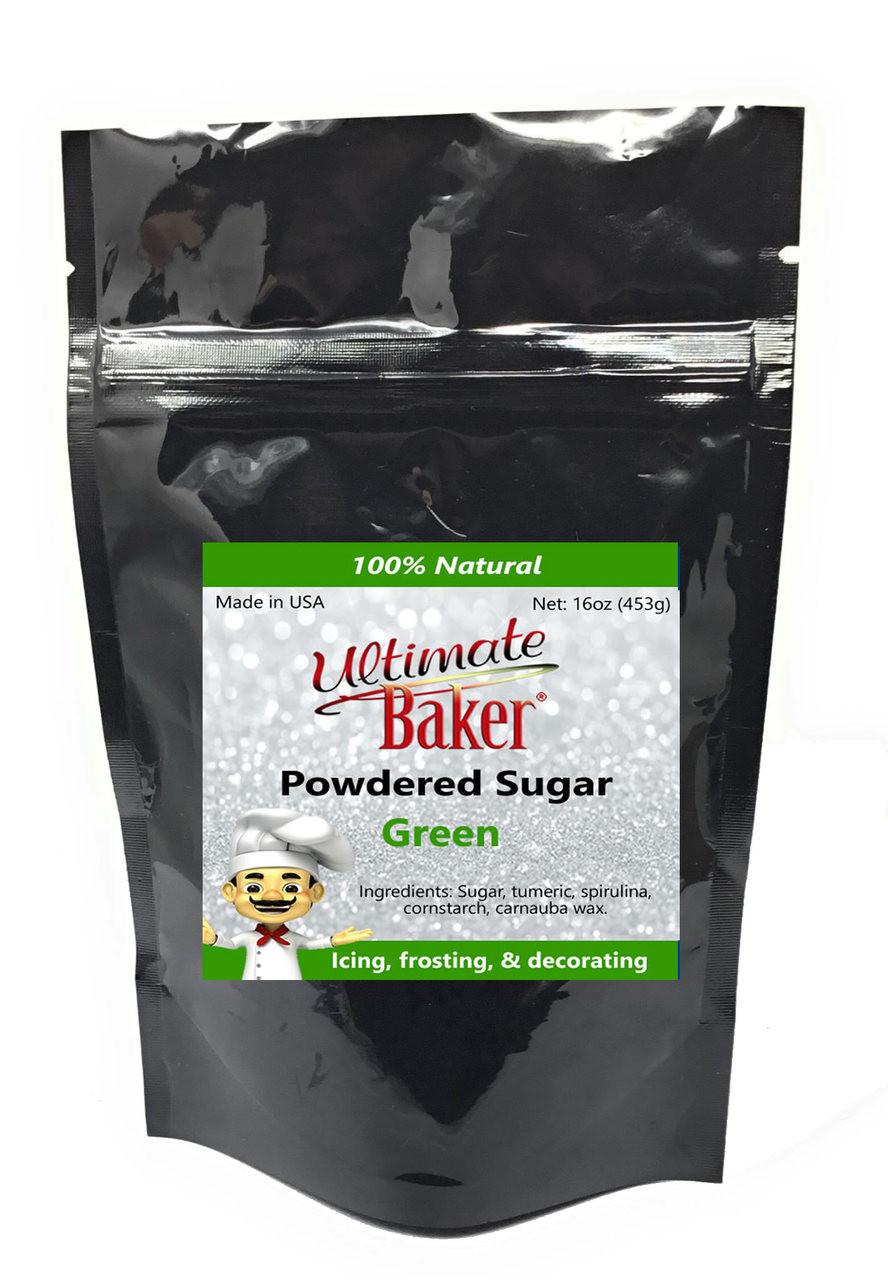 Ultimate Baker Natural Powdered Sugar Green (1x1lb)