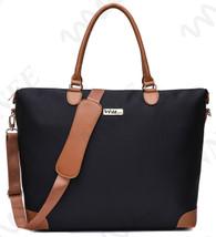 NNEE Large Oversized Water Resistance Nylon Tote Bag With Multiple Pocket Design - Black 2