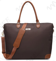 NNEE Large Oversized Water Resistance Nylon Tote Bag With Multiple Pocket Design - Brown