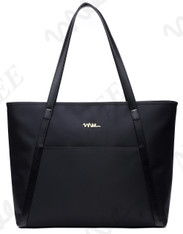 NNEE Large Water Resistance Nylon Travel Tote Shoulder Bag - Black