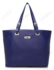 NNEE Top Handle Handbag Tote Bag With Adjustable Handle & Multiple Pocket Design - Blue