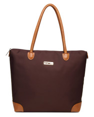 NNEE Water Resistance Nylon Tote Bag & Multiple Pocket Design - Brown
