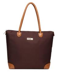 NNEE Water Resistance Nylon Tote Bag & Multiple Pocket Design - Brown