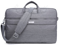 NNEE 15 15.6 Inch Water Resistance Suit Fabric Laptop / MacBook Multi-functional Expandable Business Briefcase Computer Shoulder Travel Bag - Dot Gary