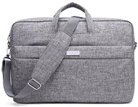 NNEE 15 15.6 Inch Water Resistance Suit Fabric Laptop / MacBook Multi-functional Expandable Business Briefcase Computer Shoulder Travel Bag - Empress Gray