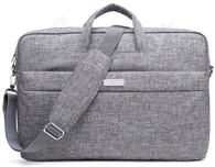 NNEE 17 17.3 Inch Water Resistance Suit Fabric Laptop / MacBook Multi-functional Expandable Business Briefcase Computer Shoulder Travel Bag - Empress Gray