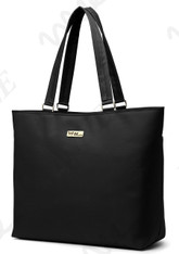 NNEE 15 15.6 Inch Water Resistance Nylon Laptop / MacBook Tote Bag Computer Travel Carrying Bag - Black