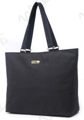 NNEE 15 15.6 Inch Water Resistance Nylon Laptop / MacBook Tote Bag Computer Travel Carrying Bag - Black Gray