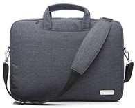 NNEE® 15 15.6 Inch Water Resistance Suit Fabric Laptop / MacBook Multi-functional Briefcase Messenger Bag Computer Travel Carrying Case with Handles & Adjustable Shoulder Strap - Br Gray