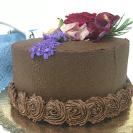 "6"" Cake with Fudge Heaven Frosting"