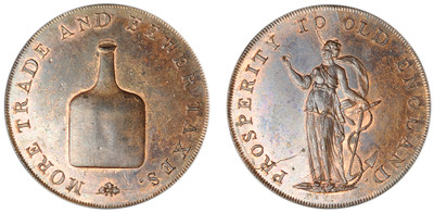 Dinmore & Son, Copper Halfpenny (D&H Norfolk 24c)