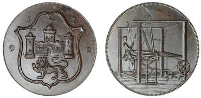 John Harvey, Copper Halfpenny, 1792 (D&H Norfolk 42)