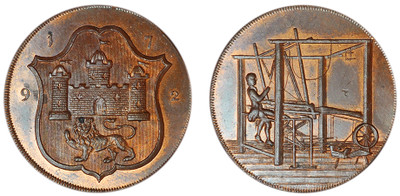 John Harvey, Copper Halfpenny, 1792 (D&H Norfolk 44)