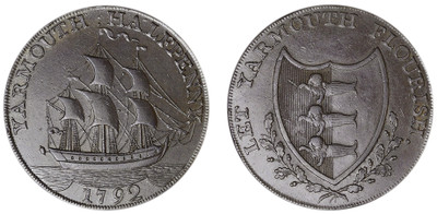 William Absolom, Copper Halfpenny, 1792 (D&H Norfolk 51)