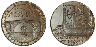 Reynolds & Co., Copper Halfpenny, 1789 (D&H Shropshire 9)