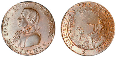 William Lutwyche, Copper Halfpenny Mule, c1794 (D&H Somersetshire 36a)