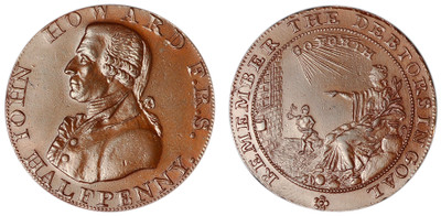 William Lutwyche, Copper Halfpenny Mule, c1794 (D&H Somersetshire 36c)