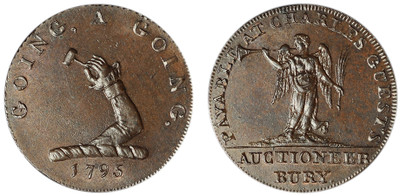 Charles Guest, Copper Halfpenny, 1795 (D&H Suffolk 30)