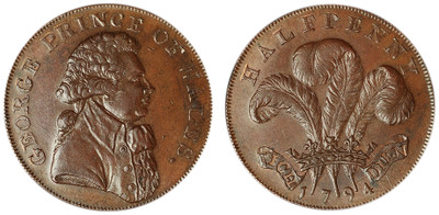 Brighton Camp, Copper Halfpenny, 1794 (D&H Sussex 2)