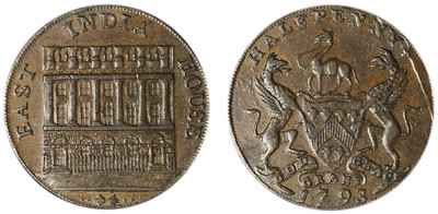 John Downing, Copper Halfpenny, 1793 (D&H Yorkshire 15)