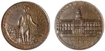 Anderson, Leslie, & Co., copper halfpenny, 1797 (D&H Lothian 7)